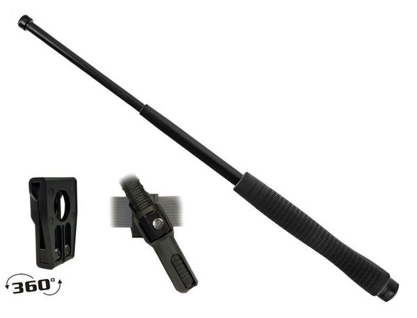 Телескопическая дубинка ESP 18HE BLK Эргономическая ручка (Закаленная сталь)