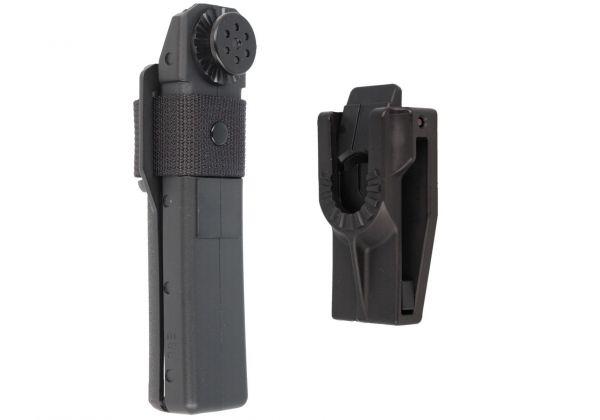 Телескопическая дубинка ESP 26HE BLK Эргономическая ручка (Закаленная сталь)